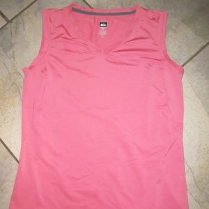 REI Coral Pink V Neckline Activewear Sports Top XS